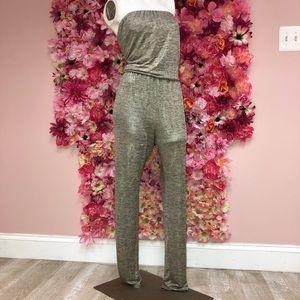 Rachel Roy Metallic Pant Romper Size Medium